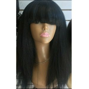 Blac Chyna Doll Gorgeous Bangs Sexy Wig